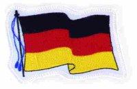 """Aufnähwappen """"Flagge Deutschland"""""""