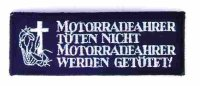 """Aufnähwappen """"Motorradfahrer....""""*"""