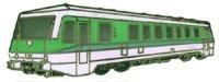 AS Diesel-Triebwg. 628 blau/weiß