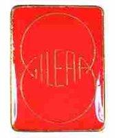AS GILERA Emblem rot/gold*