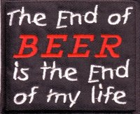 """Patch FP0066 """"The End of Beer is..."""""""