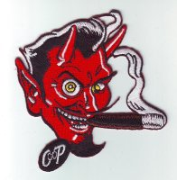 "Patch FP0190 ""Smoking Devil"""