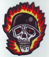 "Patch FP0193 ""Totenkopf mit Helm"""
