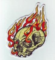 """Patch FP0194 """"Totenkopf in Flammen"""""""