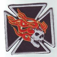 """Patch FP0212 """"Eisernes Kreuz mit Totenkopf"""""""