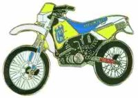 AS HUSQVARNA TE 610 blau/weiß/gelb* Keyring