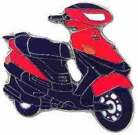 AS YAMAHA XC 125 T Roller rot/schwarz* Keyring