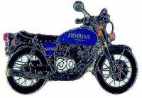 AS HONDA CB 400 Four blau Keyring
