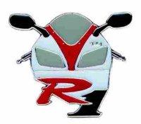 AS YAMAHA R 1 Bike & Logo* Keyring