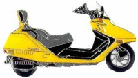AS HONDA CN 250 Helix gelb* Keyring