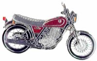 AS YAMAHA SR 400 Anniversary Ltd. Ed.* Keyring