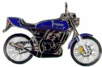 AS YAMAHA RZ 50 blau* Keyring