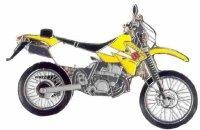 AS SUZUKI DR-Z 400 S gelb/weiß* Keyring