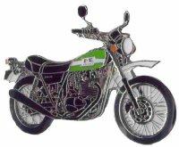 AS KAWASAKI 250 TR grün Modell 2003* Keyring