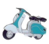AS Lambretta 150 LD weiß/blau Keyring