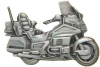 AS HONDA GL 1500 Gold Wing antique 3D Relief Keyring