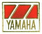 AS YAMAHA Abz. rechteckig rot/weiß Keyring