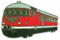 AS Diesel-Triebwg. VT 08 rot Keyring