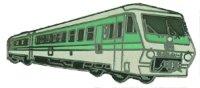 AS Diesel-Triebwg. Pendolino beige/grün* Keyring