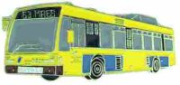 AS Bus 8683 gelb* Keyring