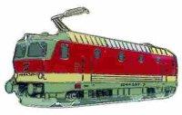 AS E-Lok 1044 207-7 rot/weiß Keyring