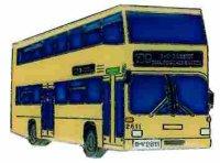 AS Bus Berlin Doppelstock D92 beige* Keyring