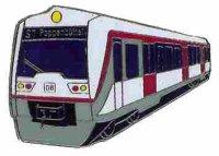 AS S-Bahn ET 474 Hamburg Keyring