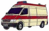 AS DRK Rettungswagen MB 312* Keyring