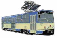 AS Leipzig Tatra T 6 blau/beige* Keyring