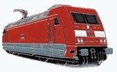AS E-Lok 101 001-6 rot Keyring