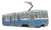 AS Gotha Tatra GelenkwagenKT 4 D blau/w* Keyring