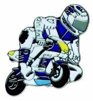 AS POLINI Minibike mit Fahrer blau*